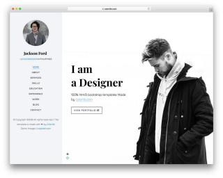 003 Magnificent Personal Website Template Bootstrap Design  4 Free Download Portfolio320