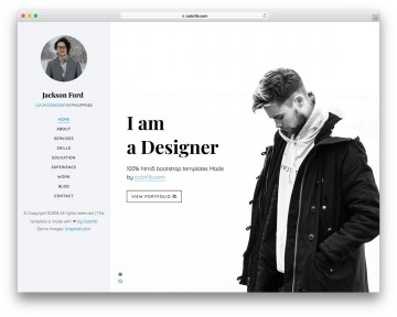 003 Magnificent Personal Website Template Bootstrap Design  4 Free Download Portfolio360