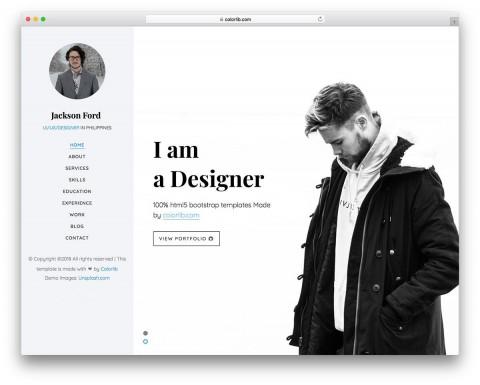 003 Magnificent Personal Website Template Bootstrap Design  4 Free Download Portfolio480