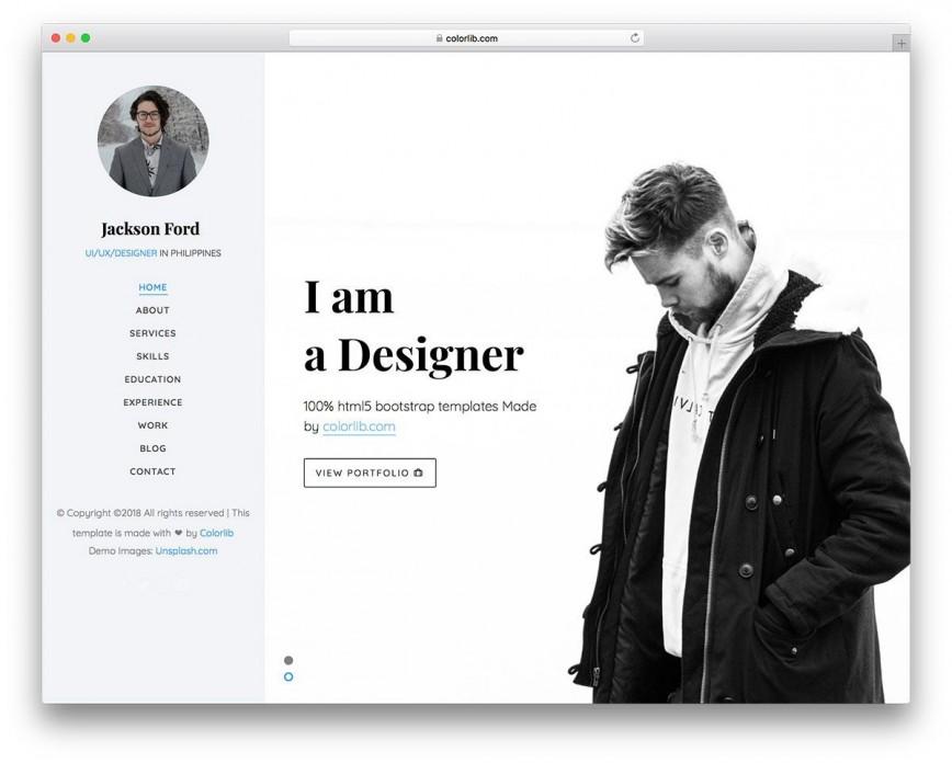 003 Magnificent Personal Website Template Bootstrap Design  4 Free Download Portfolio868