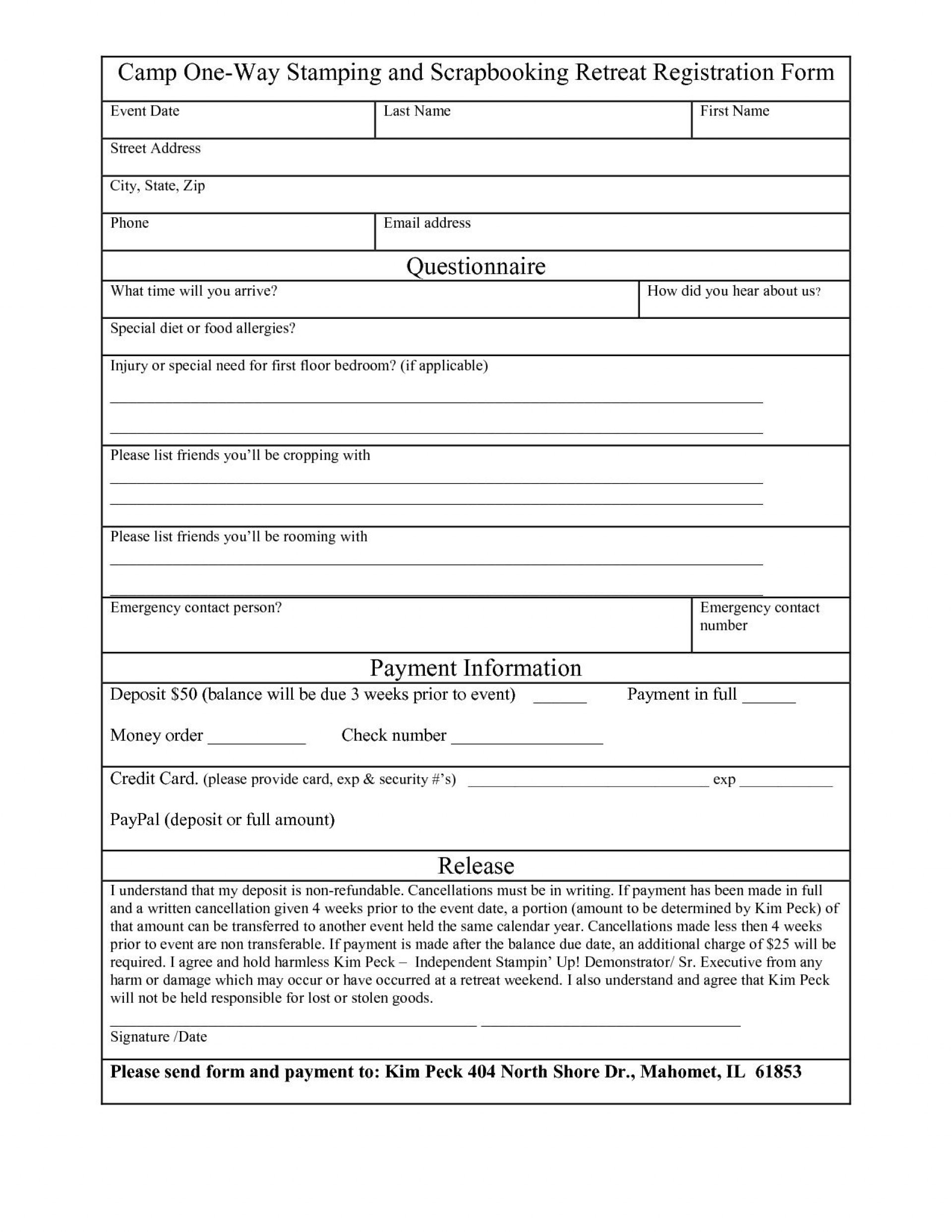 003 Magnificent Registration Form Template Word Concept  Conference Free1920