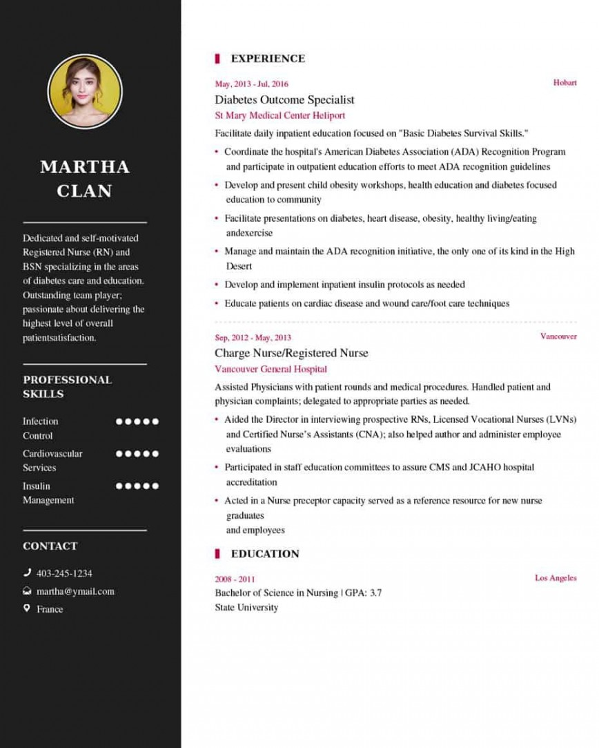 003 Magnificent Resume Template For Nurse Inspiration  Sample Nursing Assistant With No Experience Rn' Free868