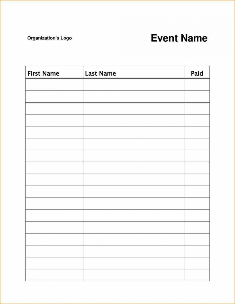 003 Magnificent Sign Up Sheet Template High Resolution  Volunteer In Word Work960