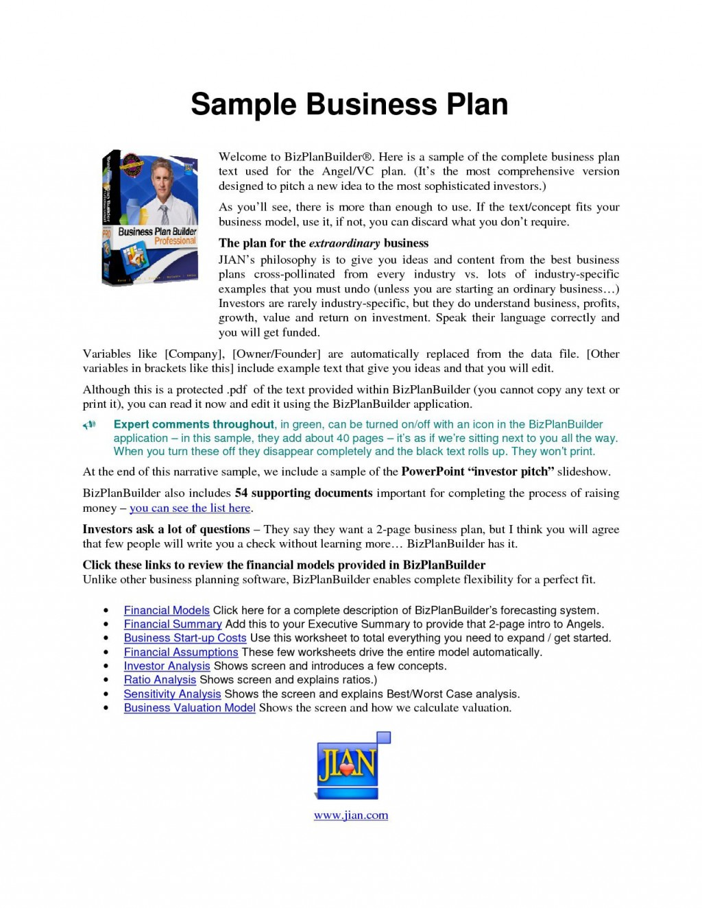 003 Magnificent Simple Busines Plan Template Word Example  Microsoft SampleLarge