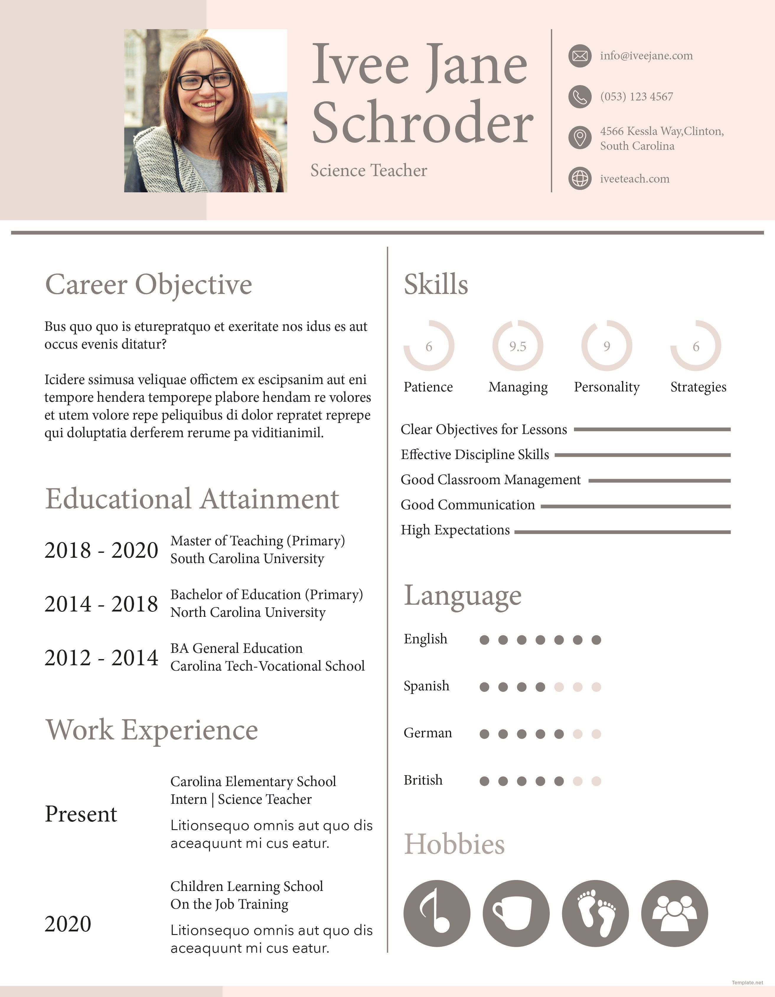 003 Magnificent Teacher Resume Sample Free Download Highest Quality  CvFull