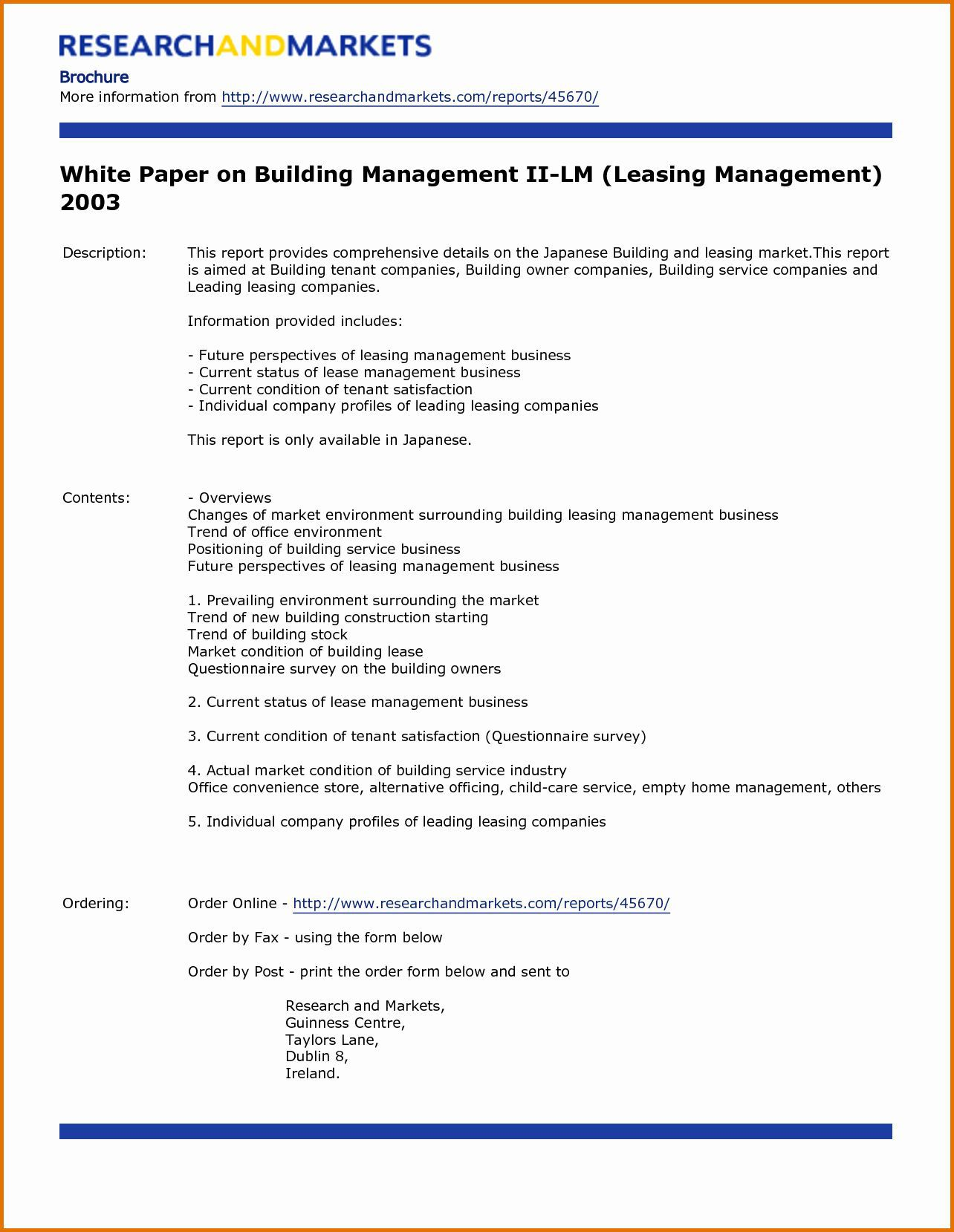 003 Magnificent White Paper Outline Sample Example Full