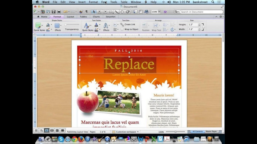 003 Magnificent Word 2007 Newsletter Template Free Concept Large