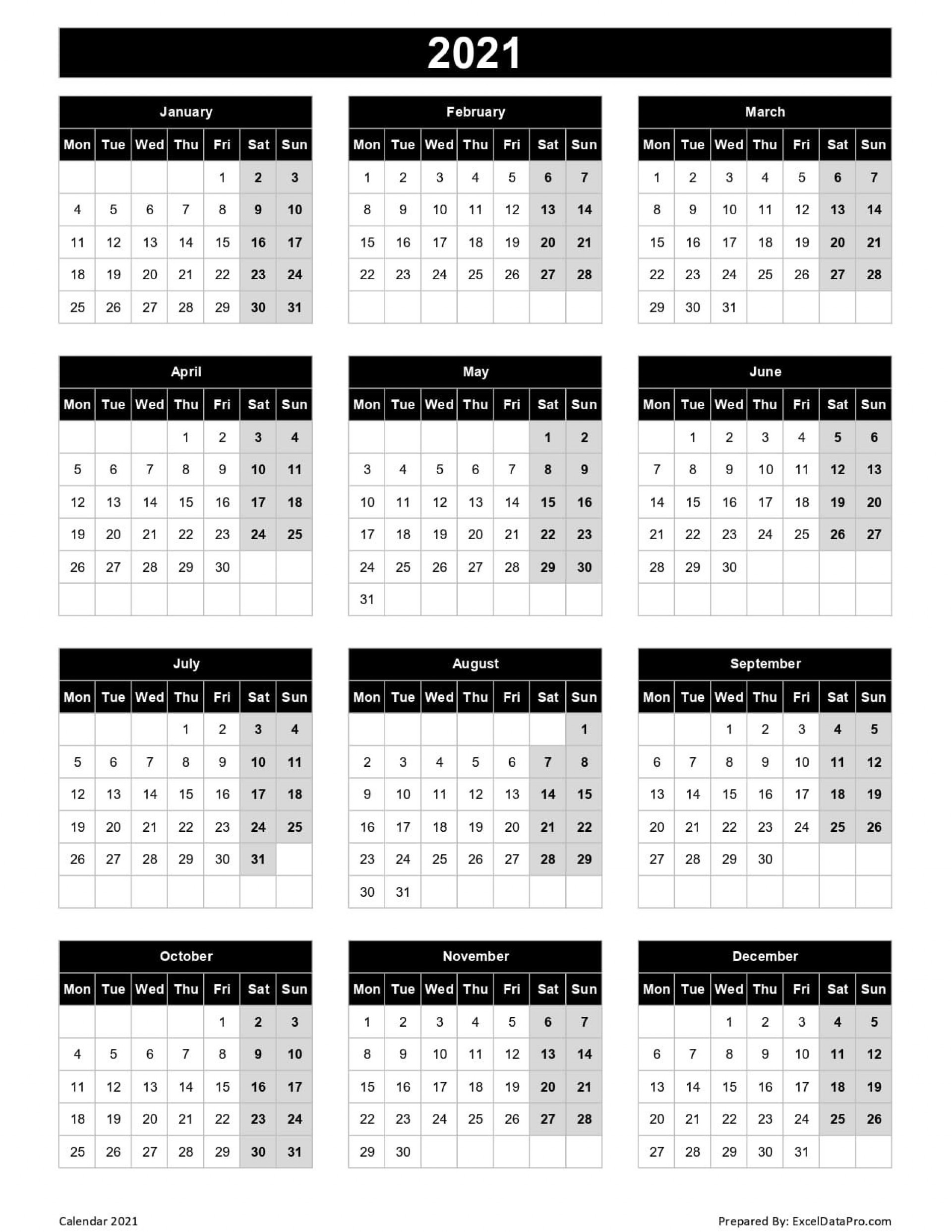 003 Marvelou 2021 Work Week Calendar Template Excel Concept  Uk Malaysia Weekly1920