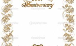 003 Marvelou 50th Wedding Anniversary Invitation Template Free Idea  Download Golden Microsoft Word