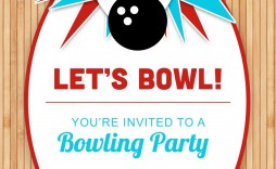 003 Marvelou Bowling Party Invite Printable Free Sample  Birthday Invitation Girl