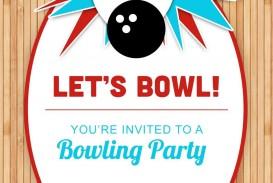 003 Marvelou Bowling Party Invite Printable Free Sample  Birthday Invitation
