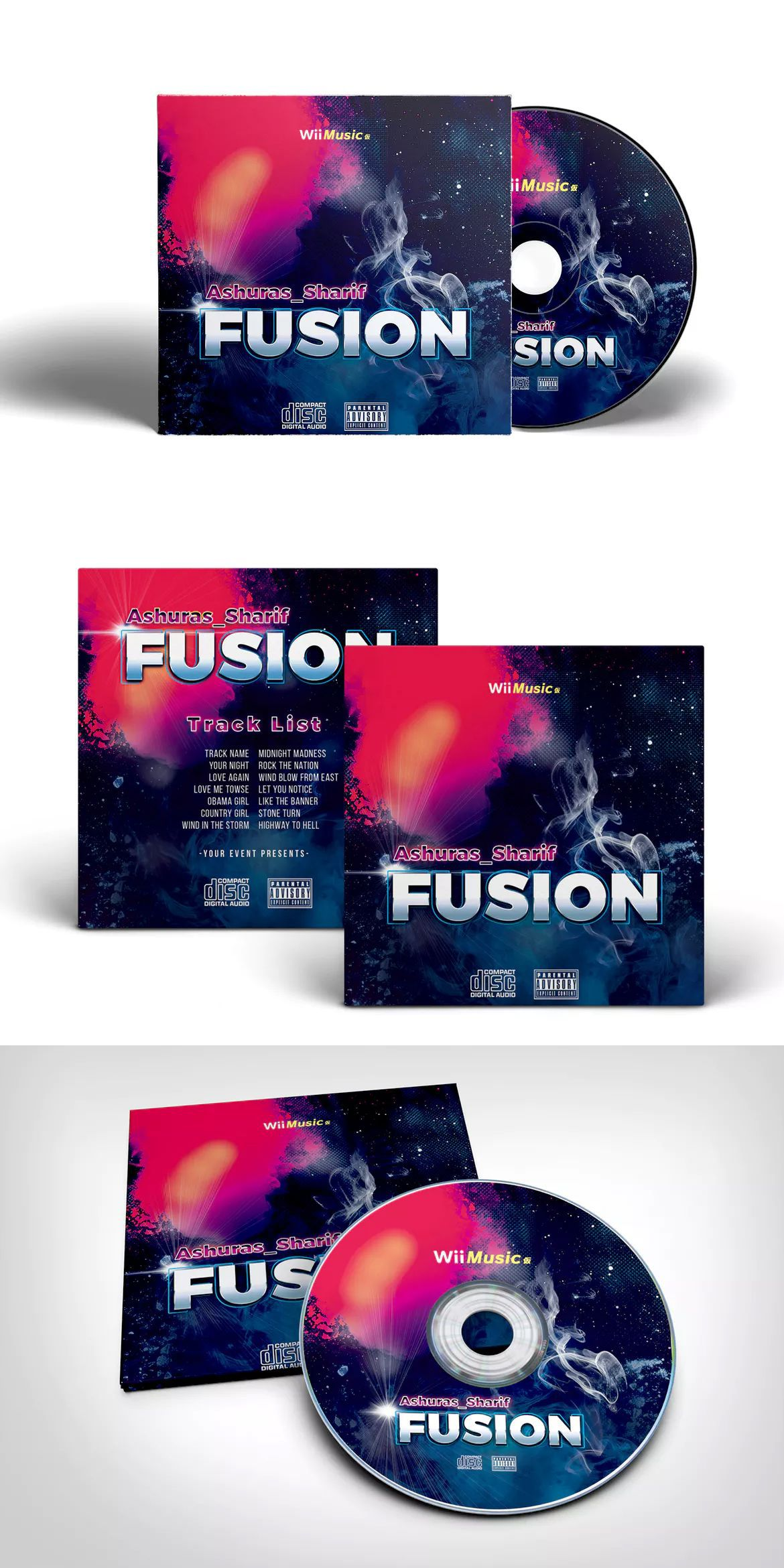 003 Marvelou Cd Cover Template Psd High Definition  Sleeve Case Free Download LayoutFull