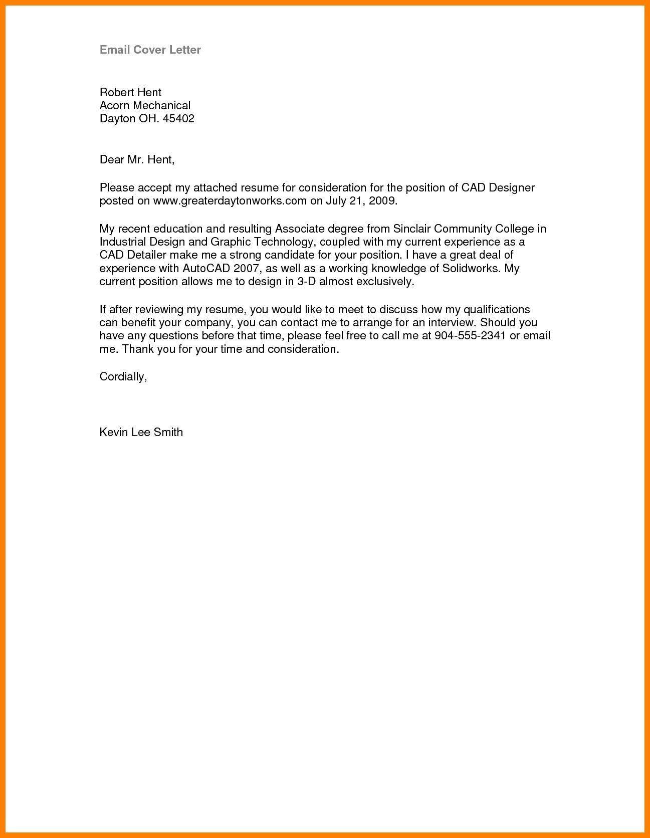 003 Marvelou Email Cover Letter Example For Resume Design  Sample Through AttachedFull