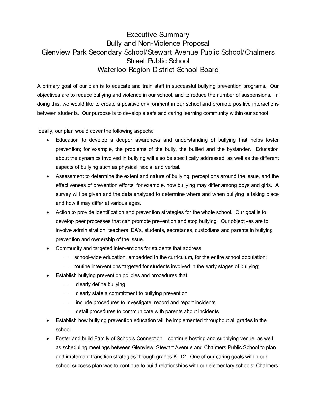 003 Marvelou Executive Summary Template For Proposal. Highest Clarity  Sample Proposal Pdf ProjectFull