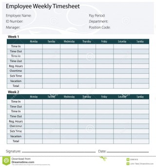 003 Marvelou Free Biweekly Timesheet Template Idea  Bi Weekly Time Card Excel320