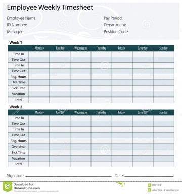 003 Marvelou Free Biweekly Timesheet Template Idea  Bi Weekly Time Card Excel360