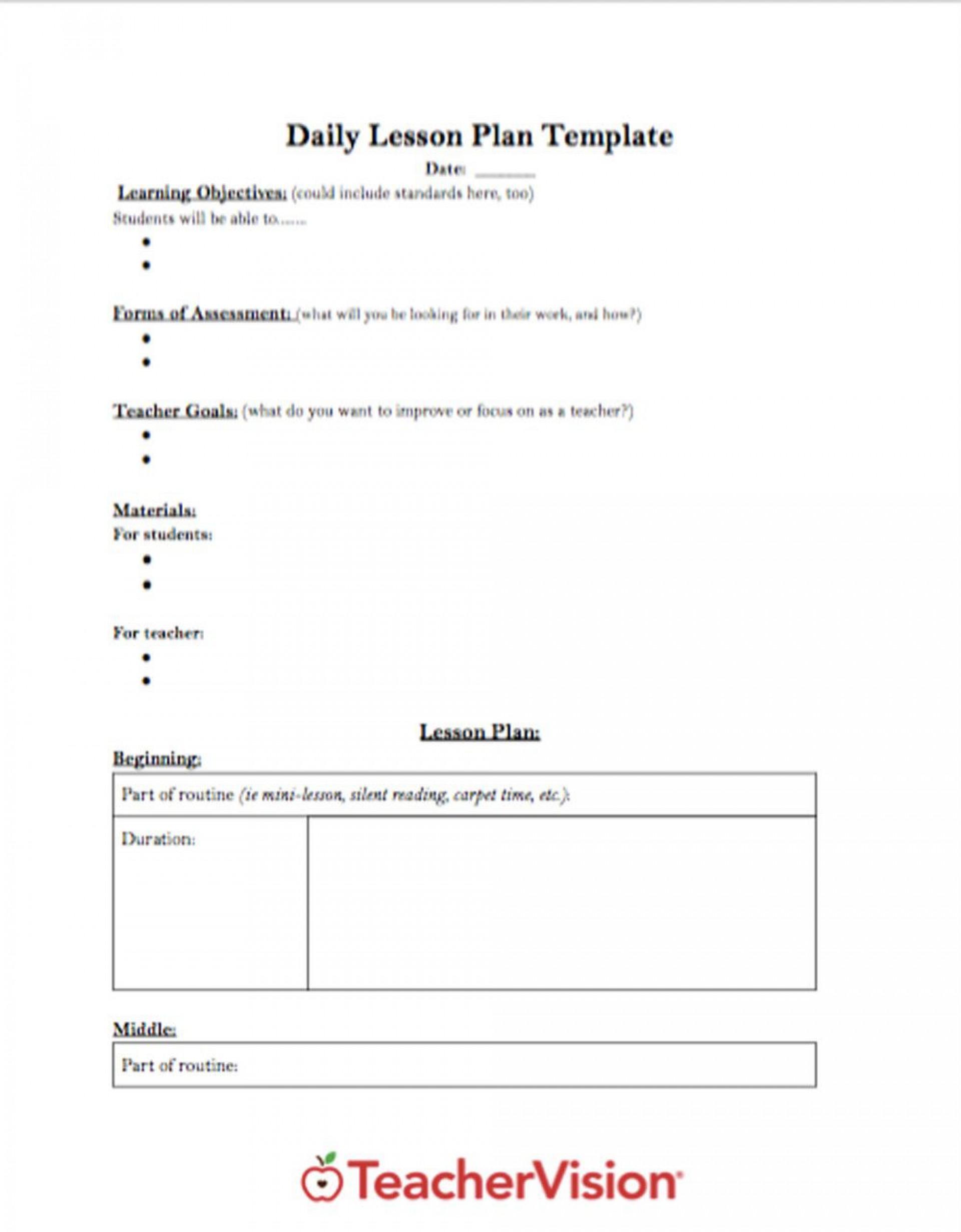 003 Marvelou Free Printable Lesson Plan Template For Elementary Teacher High Resolution  Teachers1920