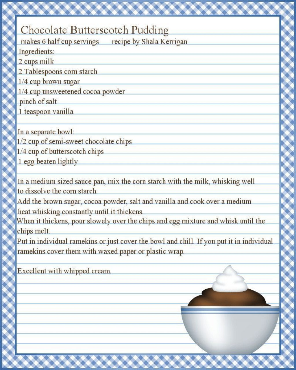 003 Marvelou Free Recipe Template For Word Image  Editable Page BookLarge