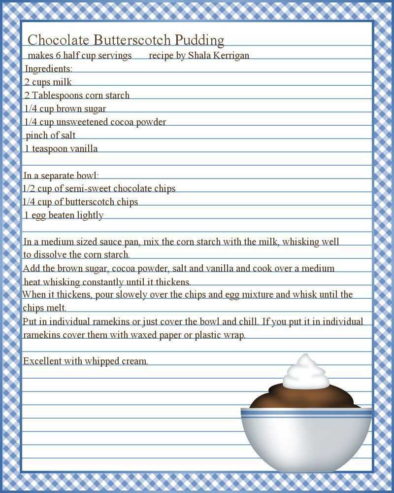 003 Marvelou Free Recipe Template For Word Image  Editable Page BookFull