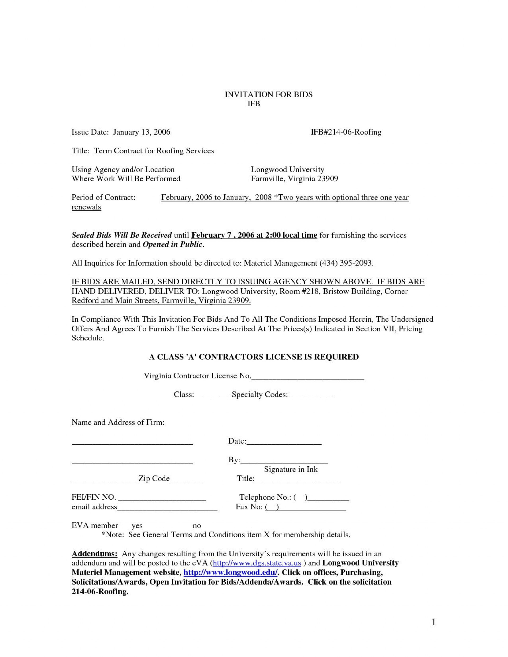 003 Marvelou Free Residential Roofing Contract Template Sample 1920