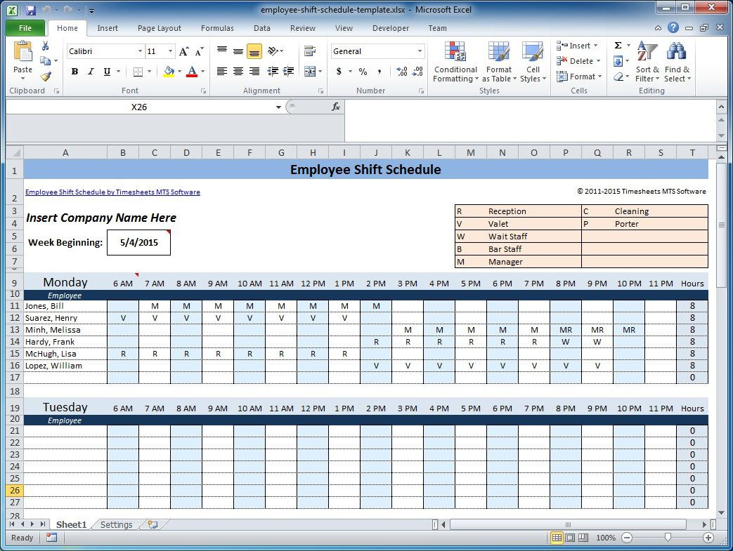 003 Marvelou Free Rotating Staff Shift Schedule Excel Template High Resolution Full