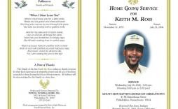 003 Marvelou Funeral Program Template Free Design  Download Memorial
