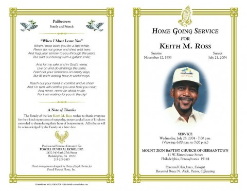 003 Marvelou Funeral Program Template Free Design  Printable480
