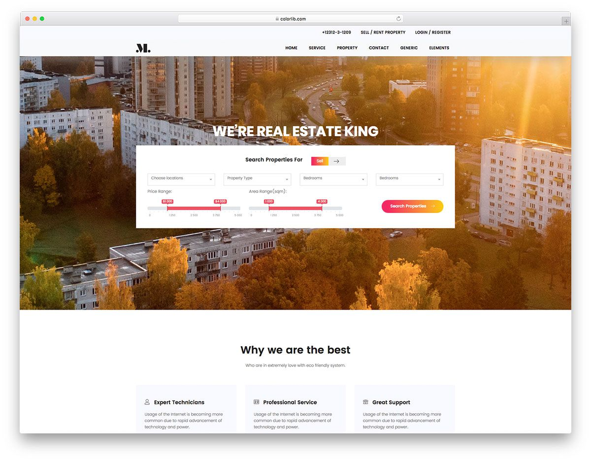 003 Marvelou Real Estate Agent Website Template High Resolution  Templates Agency Responsive Free Download Company WebFull