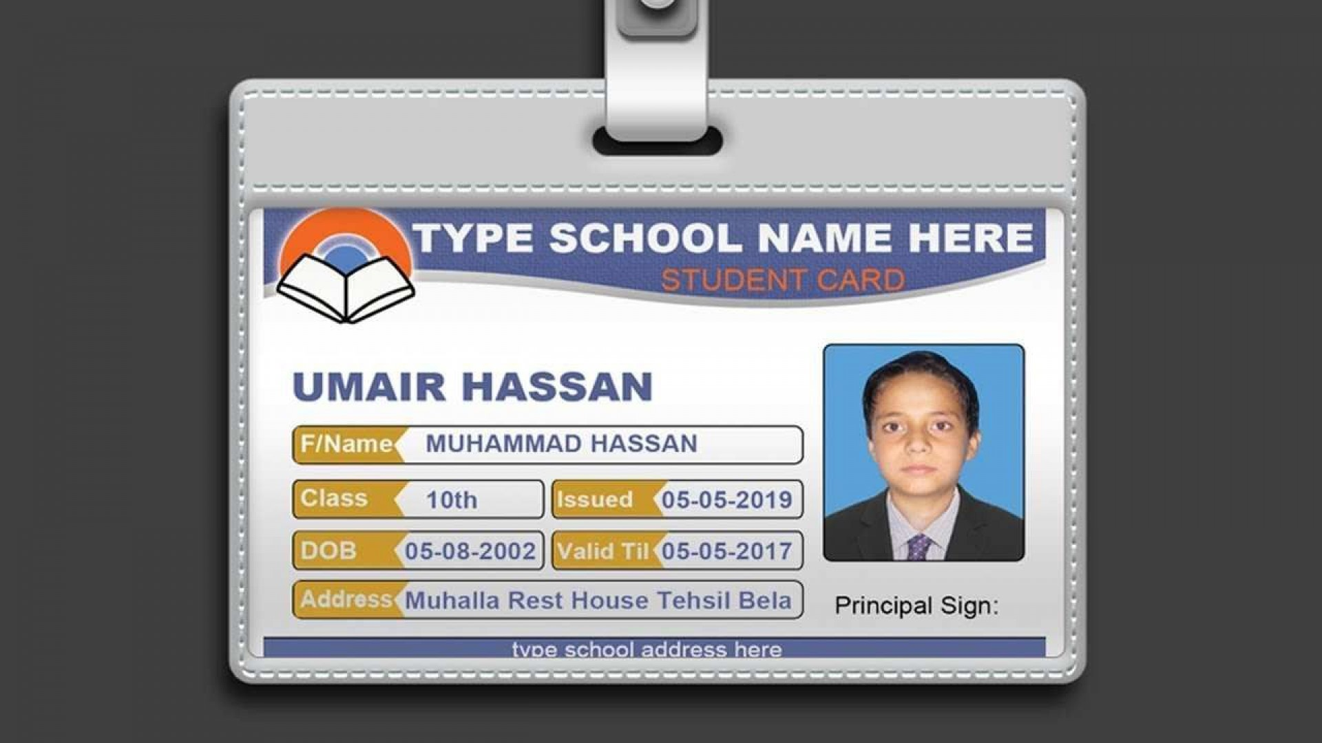 003 Marvelou Student Id Card Template Concept  Free Psd Download Word School1920