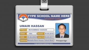 003 Marvelou Student Id Card Template Concept  Free Psd Download Word School360