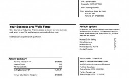 003 Marvelou Well Fargo Bank Statement Template Highest Clarity  Fillable Editable
