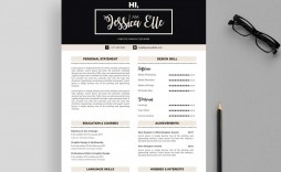 003 Outstanding Adobe Photoshop Resume Template Free Photo  Download