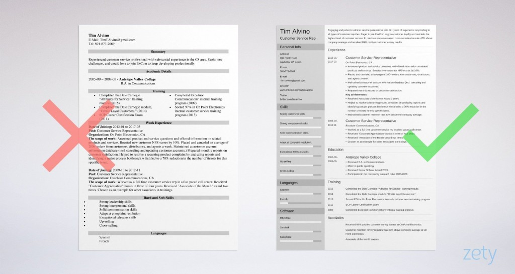 003 Outstanding Customer Service Resume Template Image  CvLarge