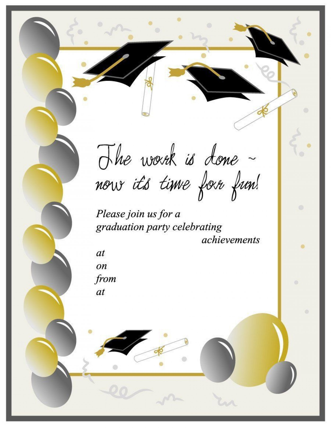 003 Outstanding Free Graduation Announcement Template Idea  Invitation Microsoft Word Printable Kindergarten1400