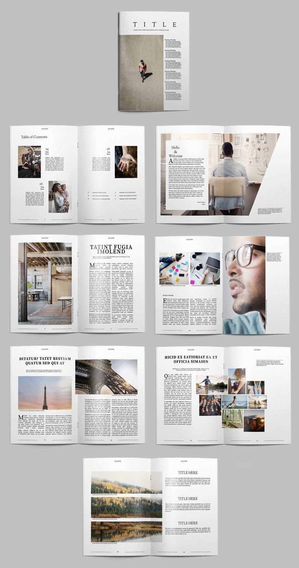 003 Outstanding Free Magazine Article Layout Template For Word Idea Full