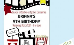 003 Outstanding Free Printable Movie Ticket Birthday Party Invitation Concept  Invitations