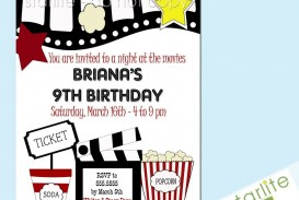 003 Outstanding Free Printable Movie Ticket Birthday Party Invitation Concept