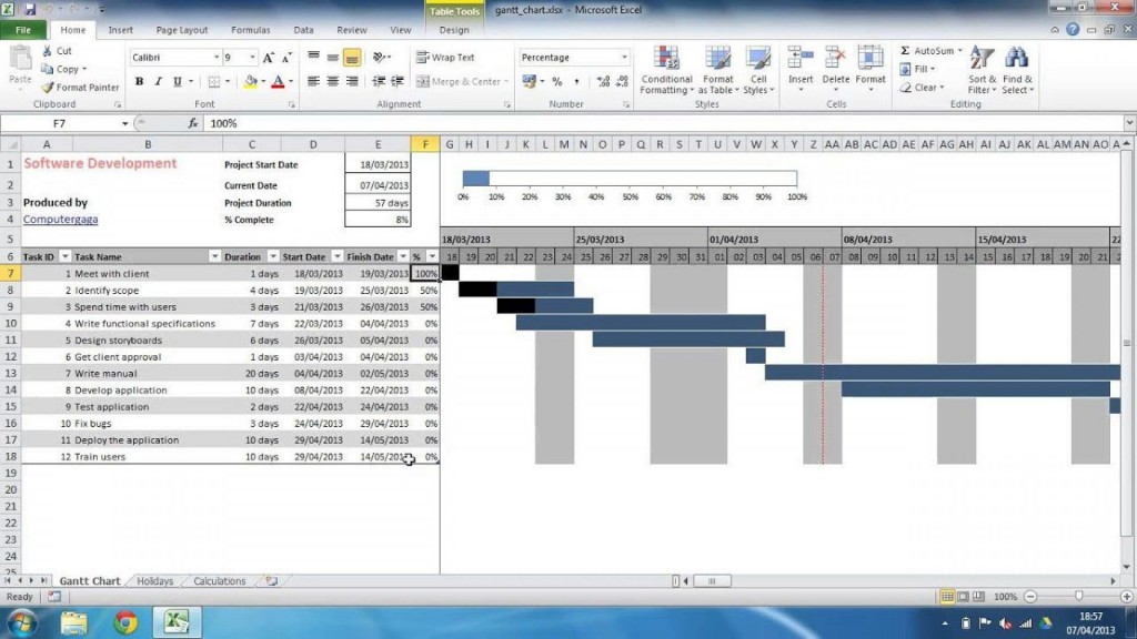 003 Outstanding Gantt Chart Template In Excel 2020 Sample  FreeLarge
