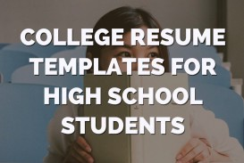 003 Outstanding High School Student Resume Template Image  Free Google Doc