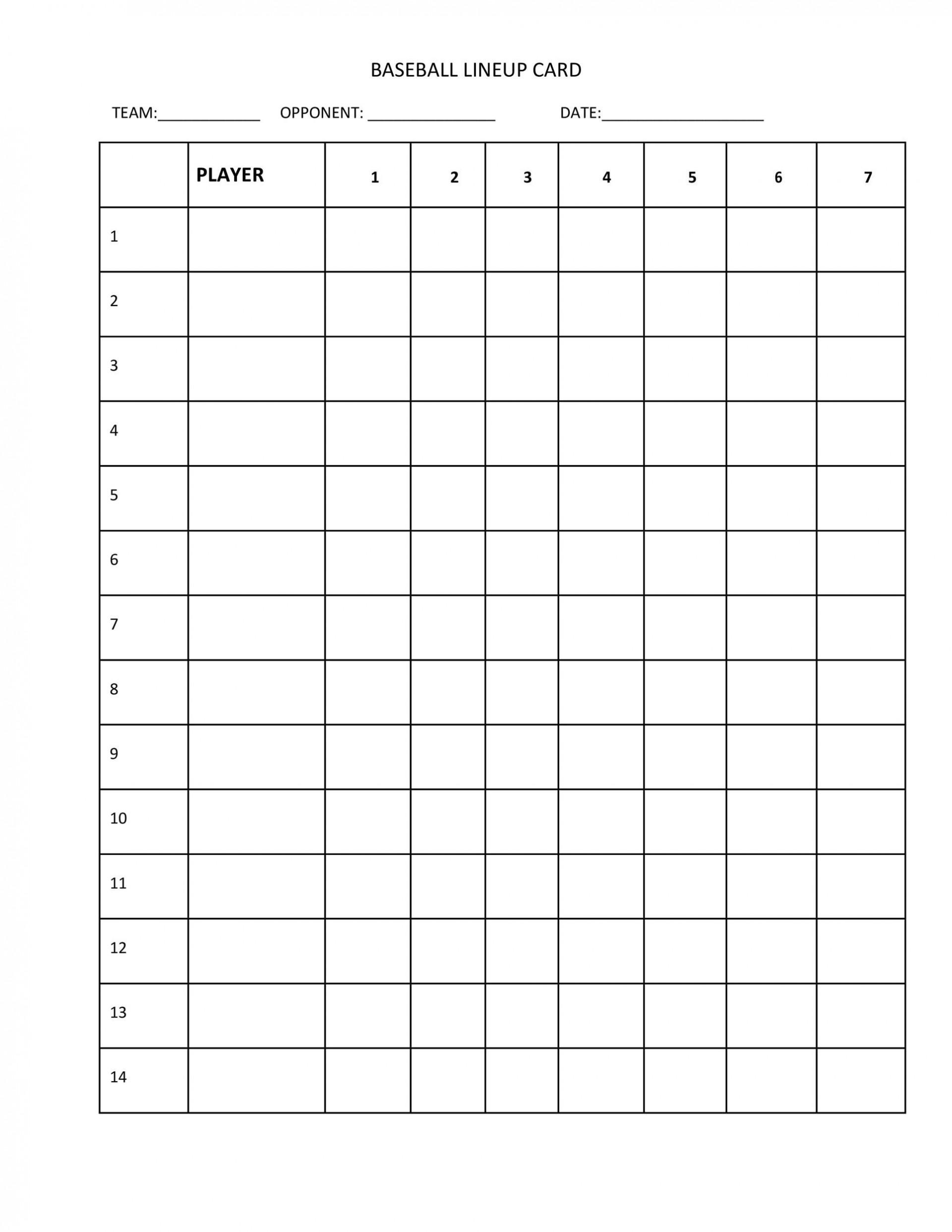 003 Outstanding Little League Lineup Card Template High Definition  Baseball1920