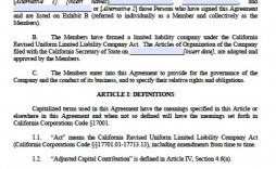003 Outstanding Llc Partnership Agreement Template Image  Operating Free