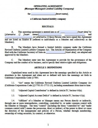 003 Outstanding Llc Partnership Agreement Template Image  Free Operating320