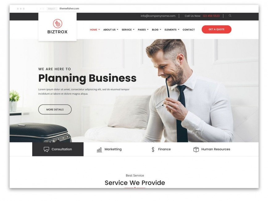 003 Outstanding One Page Website Template Free Download Bootstrap Design 868