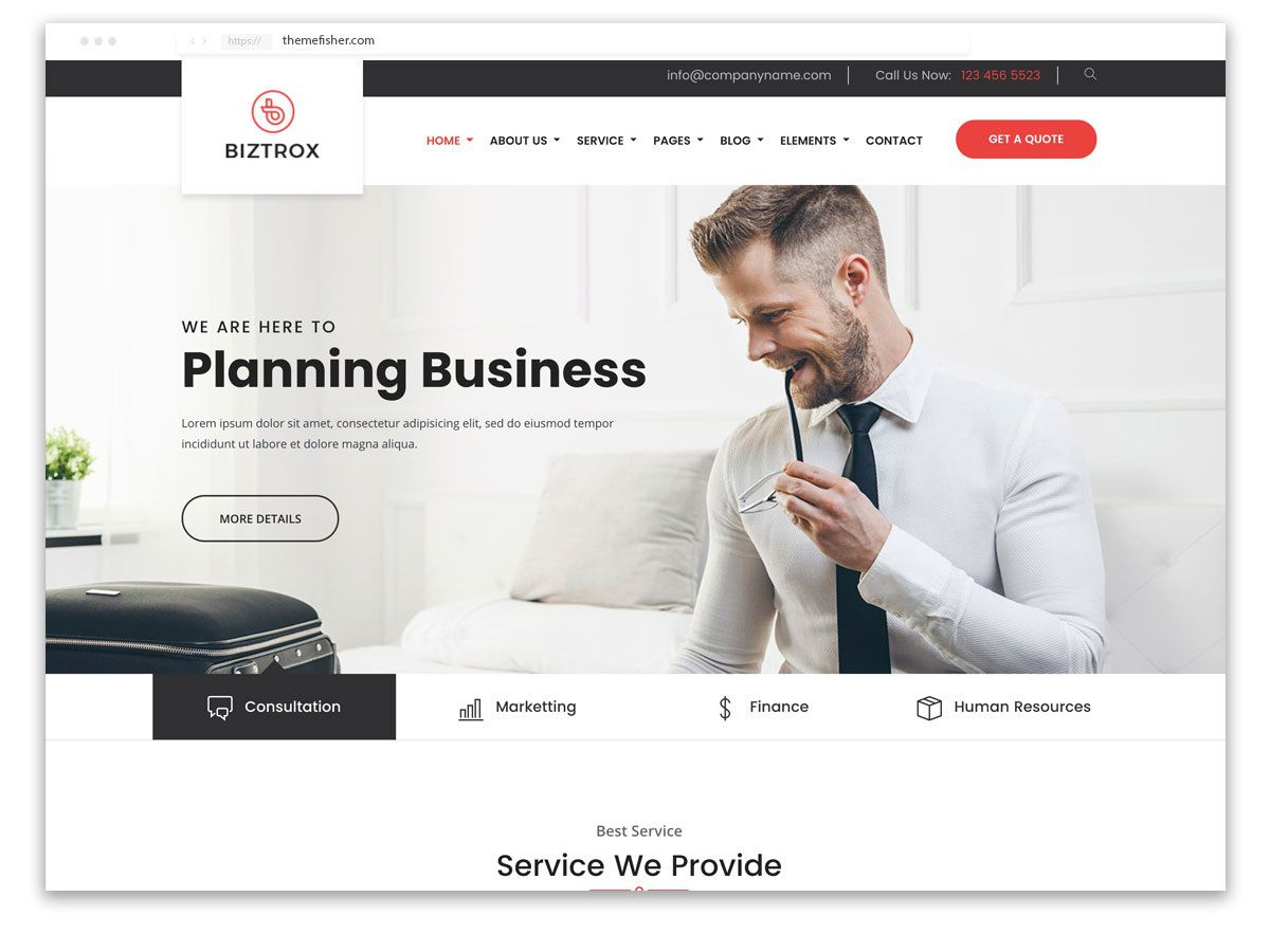 003 Outstanding One Page Website Template Free Download Bootstrap Design Full