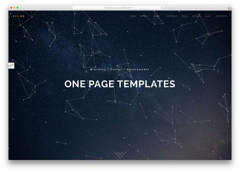 003 Outstanding One Page Website Template Html5 Responsive Free Download Concept 480