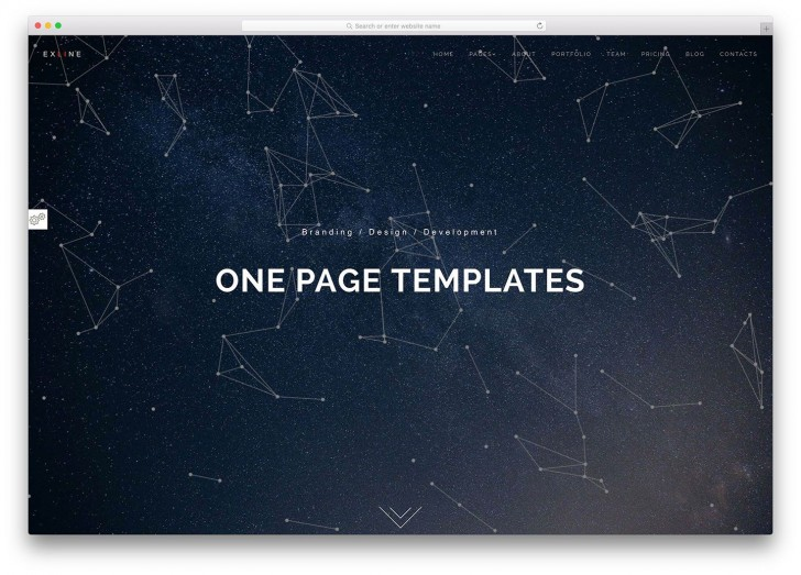 003 Outstanding One Page Website Template Html5 Responsive Free Download Concept 728