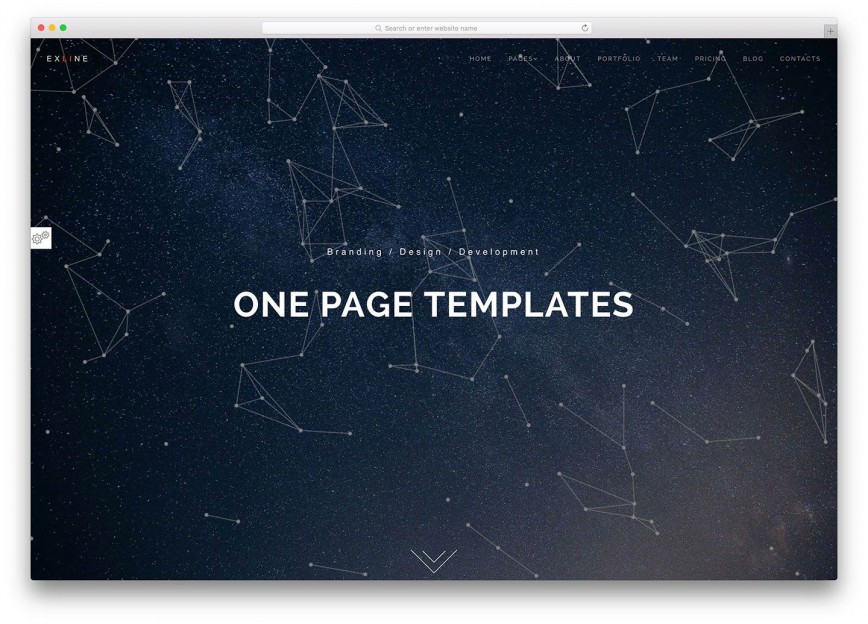 003 Outstanding One Page Website Template Html5 Responsive Free Download Concept 868