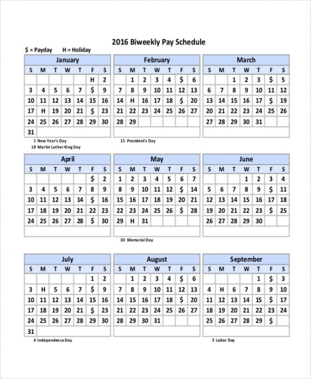 003 Outstanding Payroll Calendar Template 2020 Concept  Biweekly Schedule Excel FreeLarge