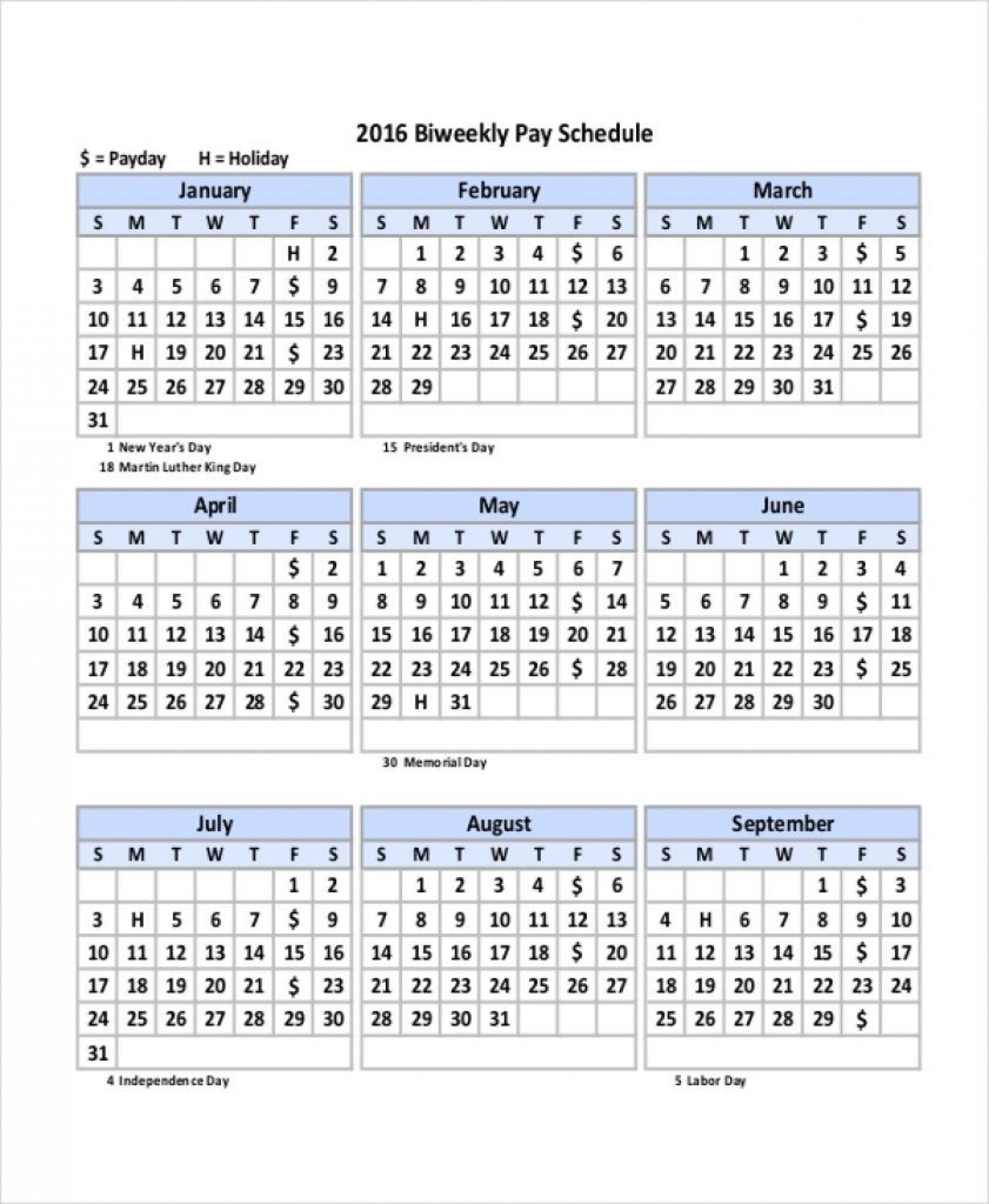 003 Outstanding Payroll Calendar Template 2020 Concept  Biweekly Schedule Excel Free1920