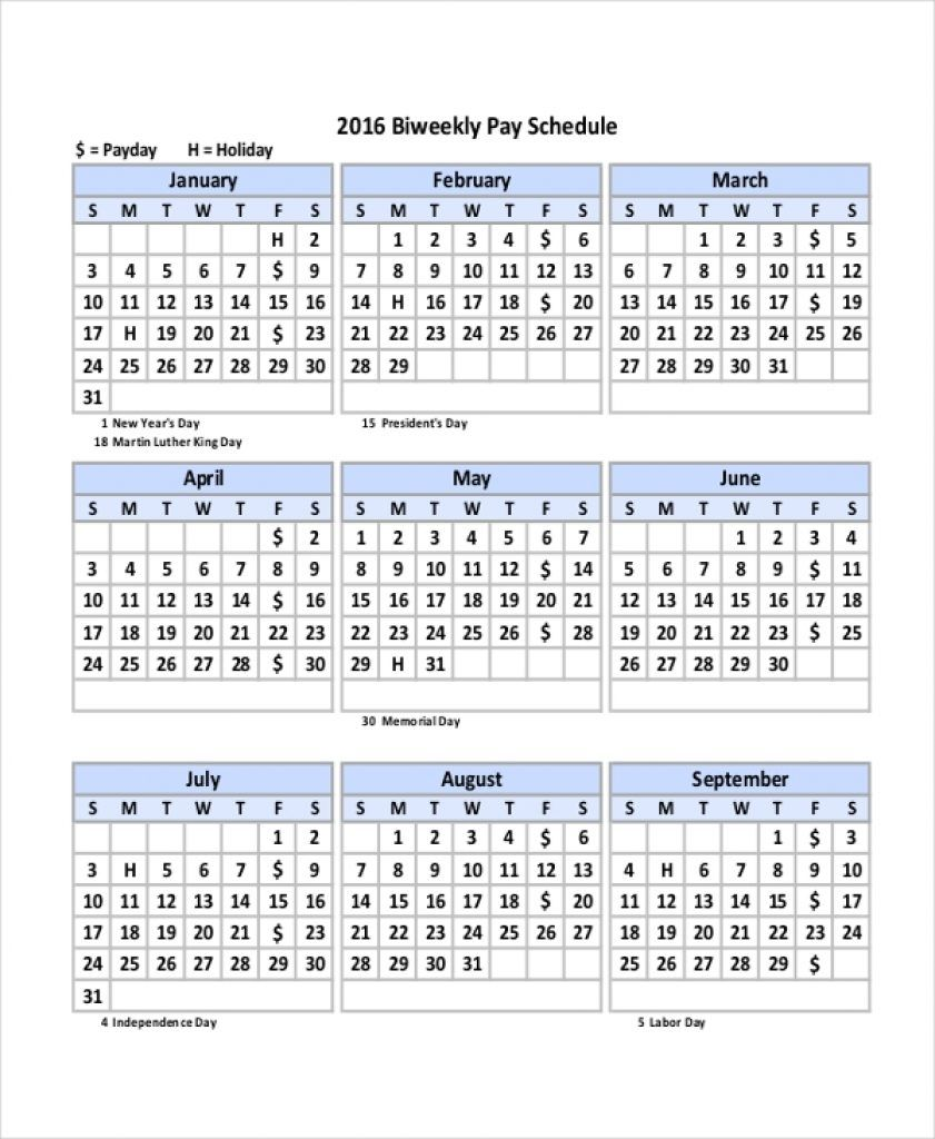 003 Outstanding Payroll Calendar Template 2020 Concept  Biweekly Schedule Excel FreeFull